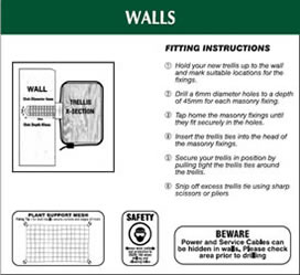 Walls Fitting Instructions